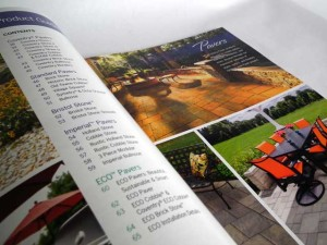 Interior spread for the 2014 catalog.