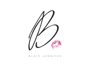 Blair Jennifer logo. A contemporary clothing line based in NYC.