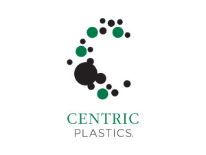 Centric Plastics logo. A raw plastics consulting firm. The logo represents magnified polymers.