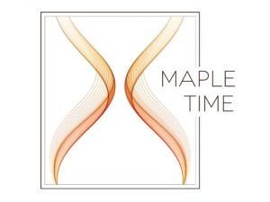 Maple Time logo. A thoroughbred with a great track record.