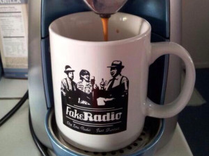 Fake Radio mug. An LA-based stage show acting out radio programs from the 40s.