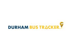 Durham Bus Tracker logo. A proprietary app for locating school buses.