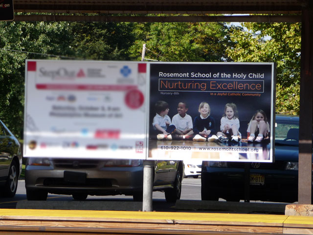The SEPTA billboard was created as a new marketing tool for RSHC to create conversation.